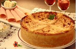 Imagem de Torta salgada palmito peito peru